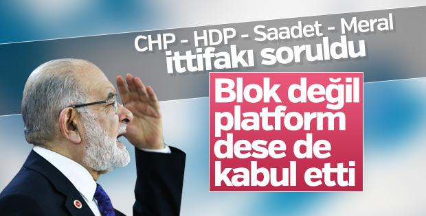 Hayır bloku ittifakı Saadet Partisi'ne soruldu