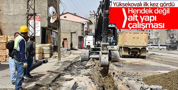 Hakkari'de alt yapı çalışmaları kaldığı yerden devam ediyor