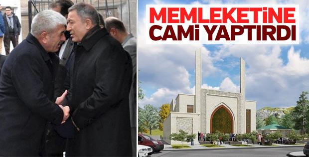Genelkurmay Başkanı Orgeneral Akar'dan memleketine cami