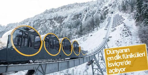 Dünyanın en dik füniküleri İsviçre'de açılıyor