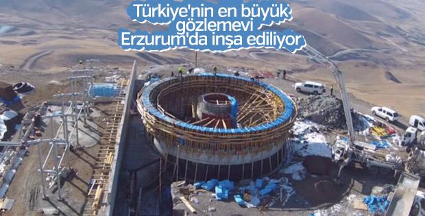 Türkiye'nin en büyük gözlemevi inşaatı Erzurum'da sürüyor