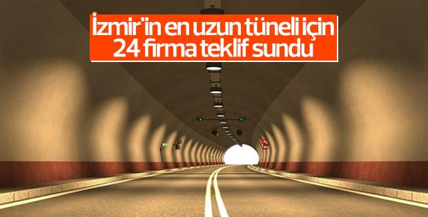 İzmir'in en uzun tüneli için 24 firma teklif sundu
