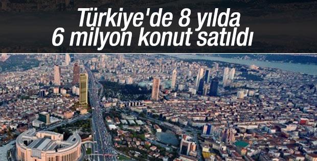 Türkiye'de 8 yılda 6 milyon konut satıldı