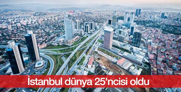 İstanbul dünya 25'ncisi oldu