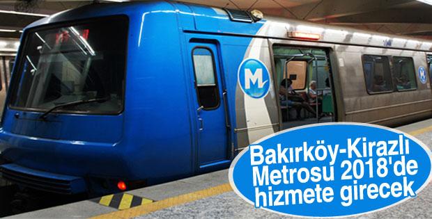 Bakırköy-Kirazlı Metrosu 2018'de tamamlanacak