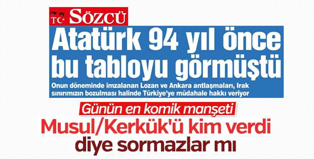 Sözcü, Atatürk bugünü görmüştü diyor