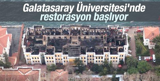 Galatasaray Üniversitesi'nin yanan çatısı restore ediliyor