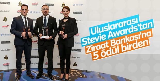 Stevie Awards'dan Ziraat Bankası'na 5 ödül