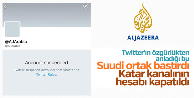 El-Cezire'ye bir darbe de Twitter'dan