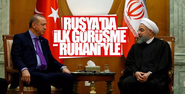 Erdoğan ve Ruhani görüşmesi Soçi'de başladı