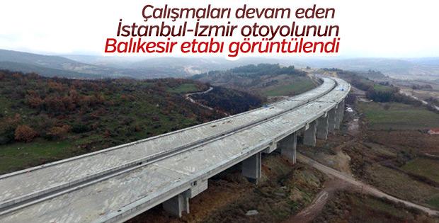 İstanbul-İzmir otoyolunun Balıkesir etabı görüntülendi