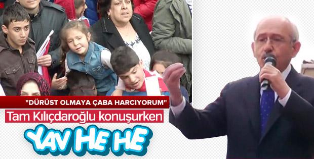 Küçük kızdan Kılıçdaroğlu'na 'Yav he he'