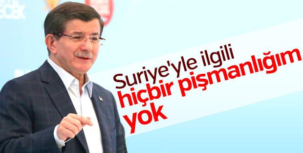 Davutoğlu: Suriye ile ilgili hiçbir pişmanlığım yok