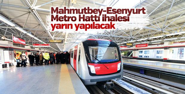 Mahmutbey-Esenyurt Metro Hattı ihalesi yarın yapılacak