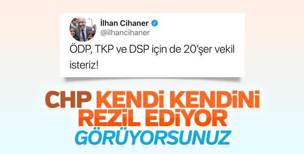 CHP'li Cihaner, İYİ Parti'ye takviyeden hoşlanmadı