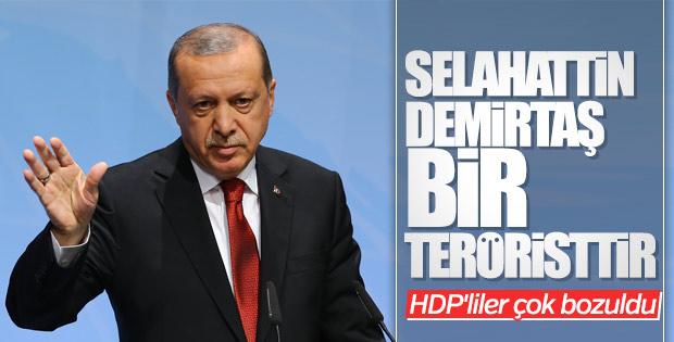 Cumhurbaşkanı Erdoğan'ın Demirtaş'a terörist demesine HDP'den tepki
