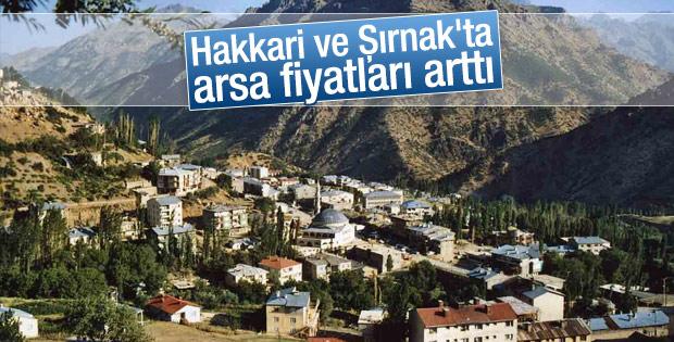 Hakkari ve Şırnak'ta arsa fiyatları arttı