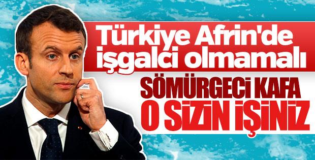 Macron: Türkiye'nin Afrin operasyonu işgale dönüşmemeli