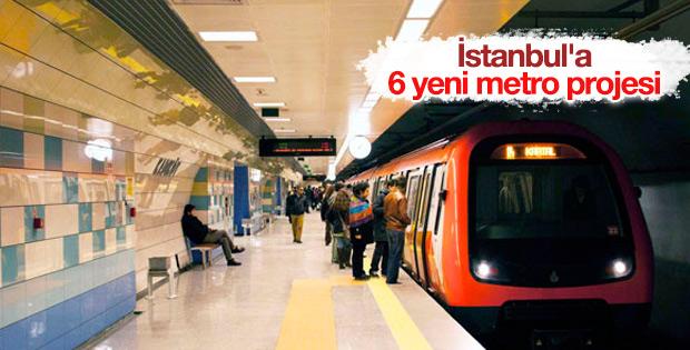 İstanbul'da 6 yeni metro hattı ihale edilecek