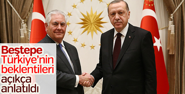 Erdoğan Türkiye'nin önceliklerini ABD temsilcisine iletti