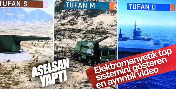 Aselsan'dan Elektromanyetik Top Sistemi TUFAN