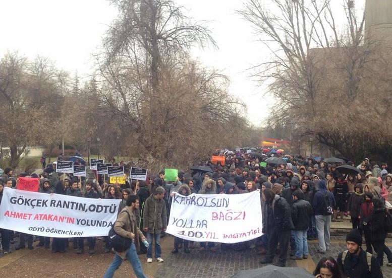 ODTÜ Kampüsü'nde polis ile göstericiler arasında arbede - izle