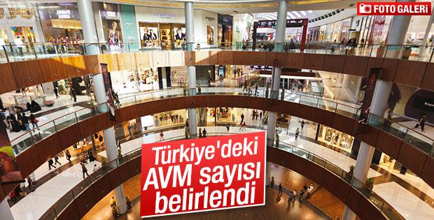 Türkiye'deki AVM sayısı belirlendi
