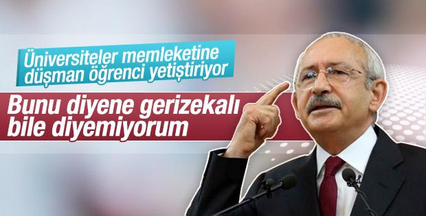 Kılıçdaroğlu'ndan rektör yardımcısına: Gerizekalı