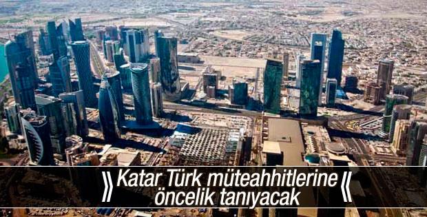 Katar Türk müteahhitlerine öncelik tanıyacak