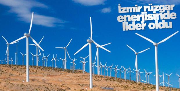 İzmir rüzgar enerjisinde lider oldu