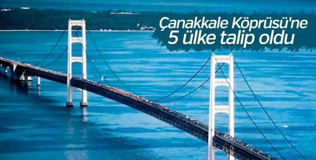 Çanakkale Köprüsü'ne 5 ülke talip oldu