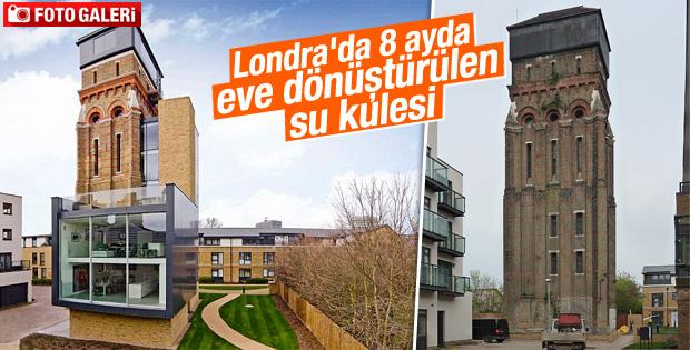 Londra'da su kulesi 8 ayda eve dönüştürüldü