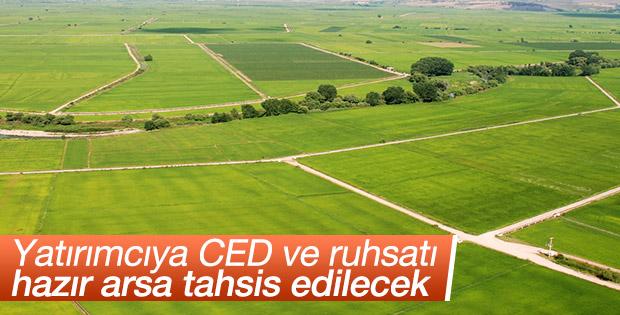 Yatırımcıya CED ve ruhsatı hazır arsa tahsis edilecek