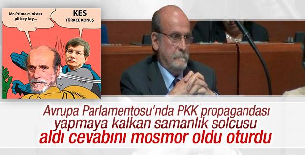 Davutoğlu Ertuğrul Kürkçü'yü mosmor etti