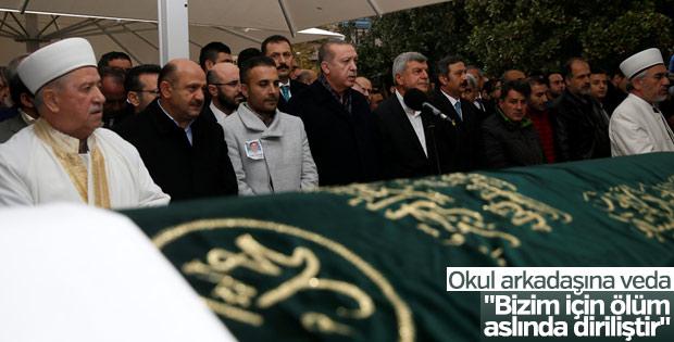 Cumhurbaşkanı Erdoğan okul arkadaşının cenazesine katıldı