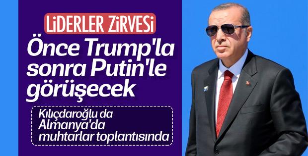 Başkan Erdoğan'ın Trump ile görüşmesi belli oldu