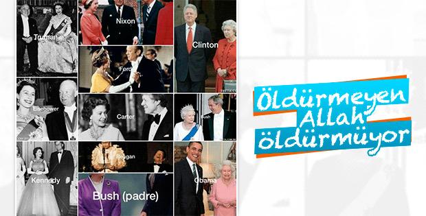 Kraliçe Elizabeth'in görmediği ABD başkanı kalmadı