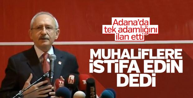 Kılıçdaroğlu'dan CHP'lilere: Kendini düşünen istifa etsin