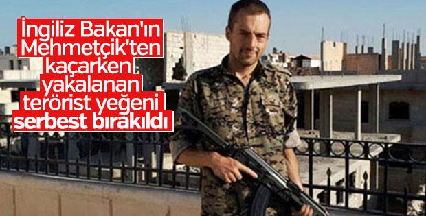 Gözaltına alınan İngiliz terörist serbest bırakıldı