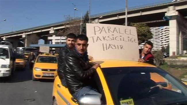 Esenler otogarında taksici eylemi