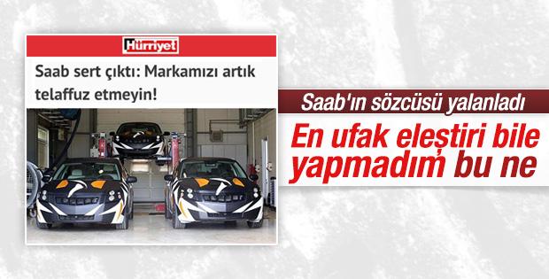 SAAB sözcüsünden yerli otomobil açıklaması