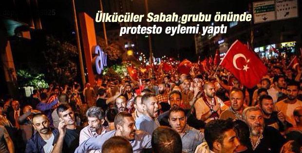 Sabah-ATV binası önünde protesto