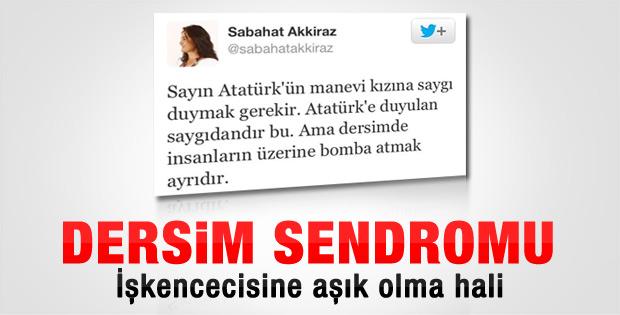 Sabahat Akkiraz'dan Sabiha Gökçen tweet'i