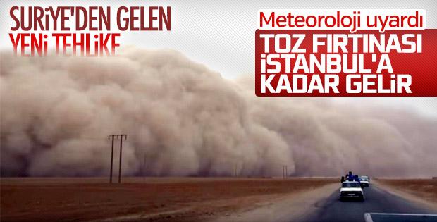 Suriye'den gelen toz bulutu Marmara'ya ilerliyor