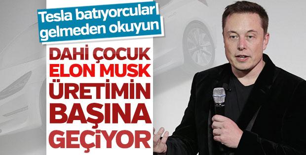 Çöküşe geçen Tesla'da Elon Musk direksiyonu devraldı