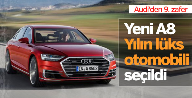 Audi A8 yılın lüks otomobili seçildi