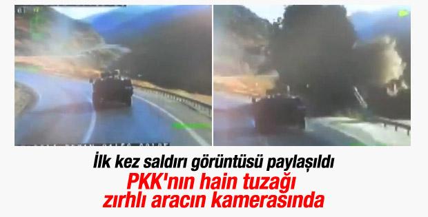 Bitlis-Diyarbakır karayolundaki mayınlı saldırı anı