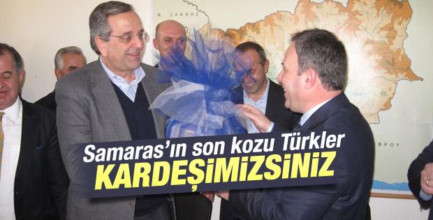Samaras: Batı Trakya Türkleri bizim kardeşimiz