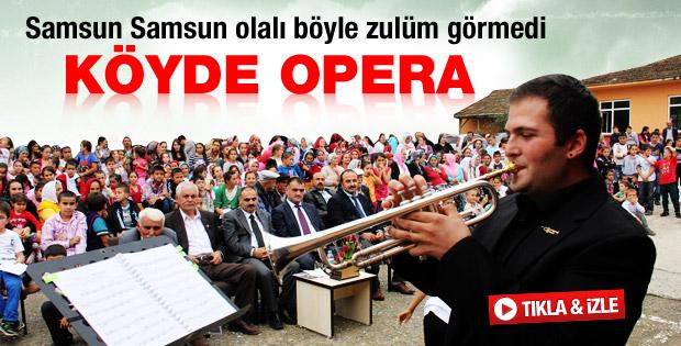 Samsun'da 78'lik dede opera konseri yönetti - izle