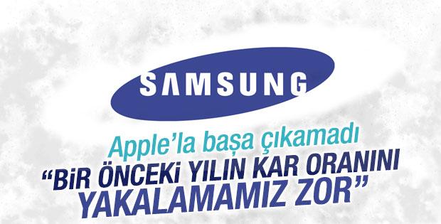 Samsung'un karı azaldı